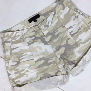 Sanctuary | white camo | shorts | distressed